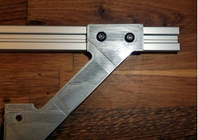 铝挤型电缆夹用的可打印的双头T型槽螺母